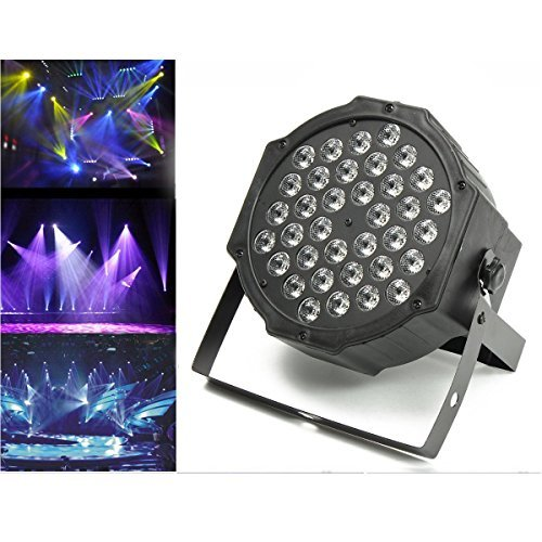 Jeteven 36W LED Stage Laser Lights DJ Par Lights RGB DMX512 Auto/Sound Activated for Disco DJ Clubs Bar KTV Party
