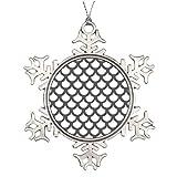 Humories Fish Scale Xmas Trees Decorated Grey Custom Christmas Snowflake Ornament