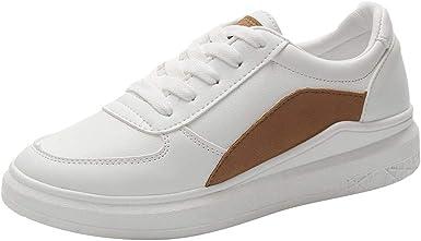 Zapatillas Blancas Salvaje Mujer Zapatos Informales de Moda para ...
