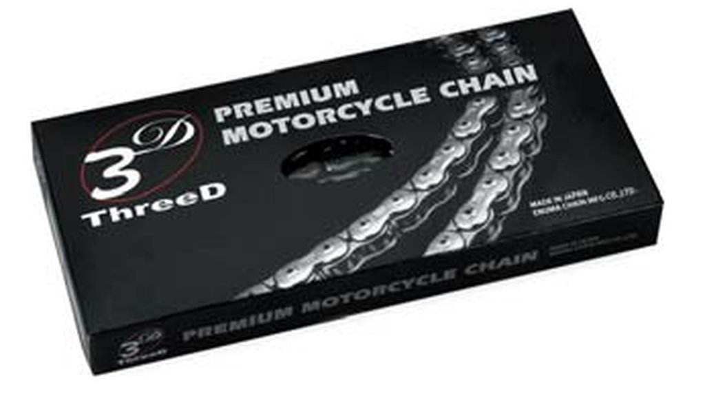 EK Motor Sport ''EK Chain 520 MXR 3D Premium Chain - 116 Links - Black/Gold