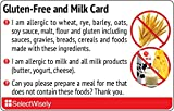 Gluten-Free and Milk Translation Card - Translated in Arabic or any of 43 languages