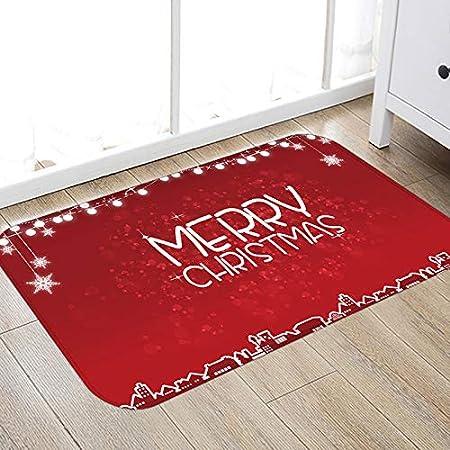 el Sal/ón el Ba/ño la Cocina Alfombra Mat Alfombrillas Decorativas para el Pasillo JUNGEN Antideslizante Felpudo para Navidad Dise/ño de Estrellas de Plata