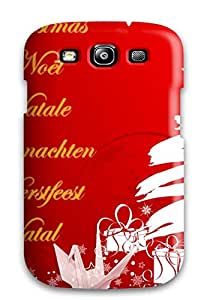 Premium Protection Christmas Music Languages Case Cover For Galaxy S3- Retail Packaging