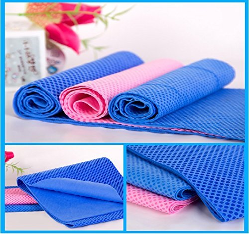 Cooling TowelChilly Pad By Cool BestyPremium Quality-Instant Cooling Snap Towel-Perfect Fitness Workout & Athletes Cold Towel & Best For Any Sport ActivitiesYogaFitness Equipment - Blue & Pink