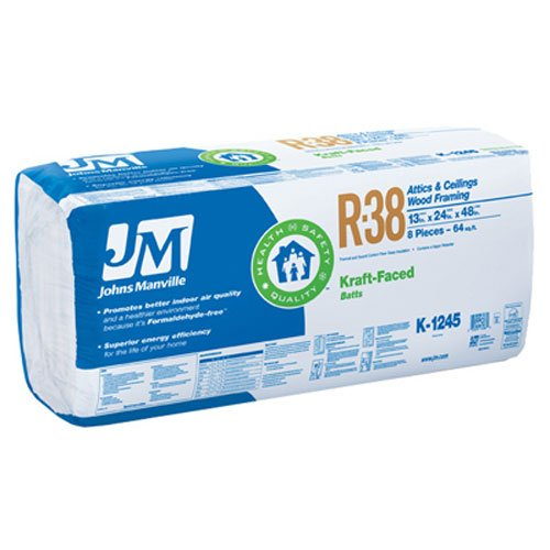JOHNS MANVILLE INTL 90005452 R38 24'' x 48'' Kraft Battery by JOHNS MANVILLE INTL