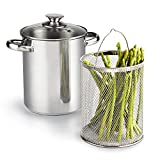 Cheap Cook N Home 4 Quart 3-Piece Vegetable Asparagus Steamer Pot, Stainless Steel