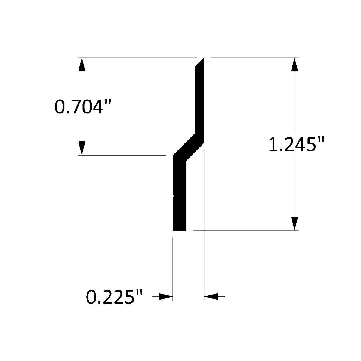 Aluminum Z-Hanger, 6ft Lengths with Holes 1'' on Center (20 Pack) by Orange Aluminum (Image #3)