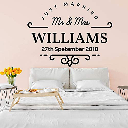 Personalized Wedding Name Date Wall Dance Floor Decal Custom Wedding Graphic Monogram Floor Art Vinyl Sticker Mr Mrs Wall Decals Made in USA