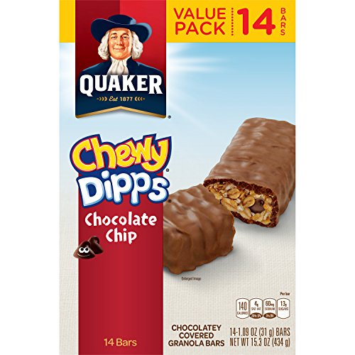 Quaker Chewy Dipps Chocolate Chip Granola Bars, 14 Bars (...