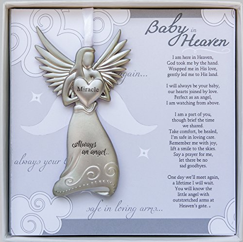 (Baby in Heaven, Always an Angel Hanging Metal Bereavement Boxed Memorial Ornament)