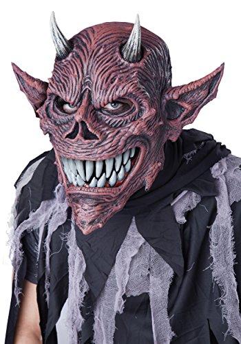California Costumes Men's Devil's Feast ANI-Motion Mask, Red/Black, One (Devil Halloween Costumes 2016)