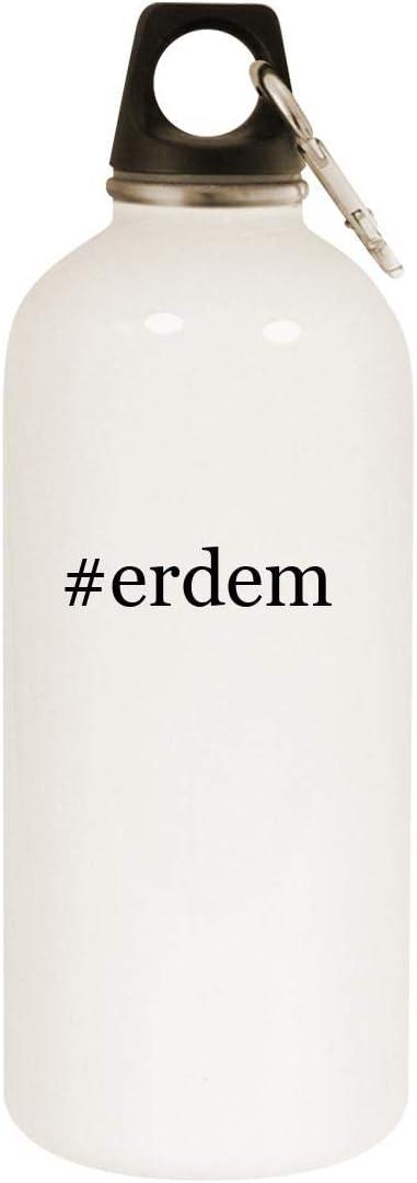 #erdem - 20oz Hashtag Stainless Steel White Water Bottle with Carabiner, White 51-7EVzkjoL