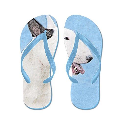 Cafepress Bull Terrier - Flip Flops, Grappige String Sandalen, Strand Sandalen Caribbean Blue