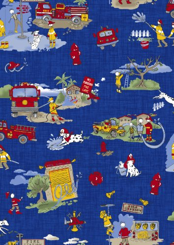 - Firefighter Fabric by the Yard - 100% Cotton Poplin 55