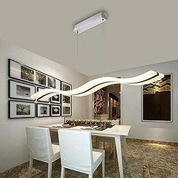 Modern Led Pendant Lamp For Living Room Acrylic Stainless Chandelier Ceiling Lights Bar Home LightingNature White Light