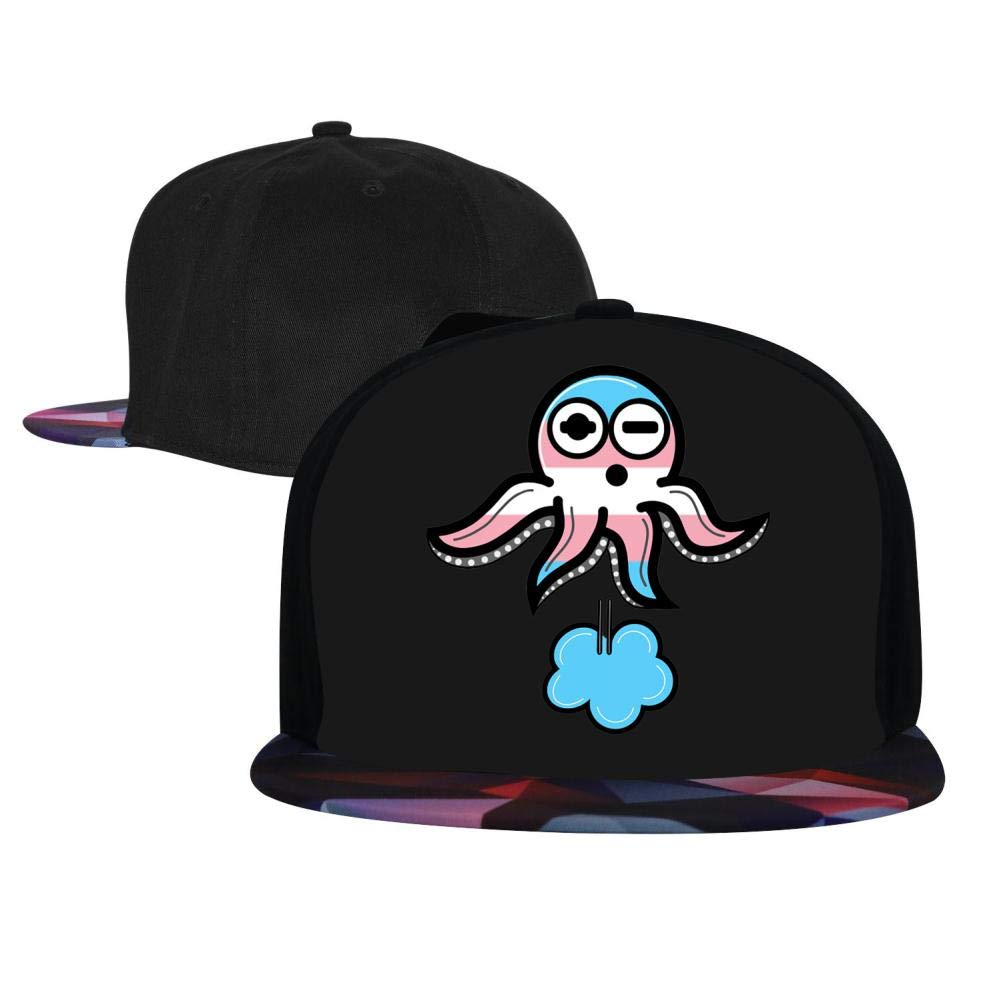 EUYK77 Trans Pride Inktopus Mens and Womens Trucker Hats Adjustable Hip Hop Flat-Mouthed Baseball Caps