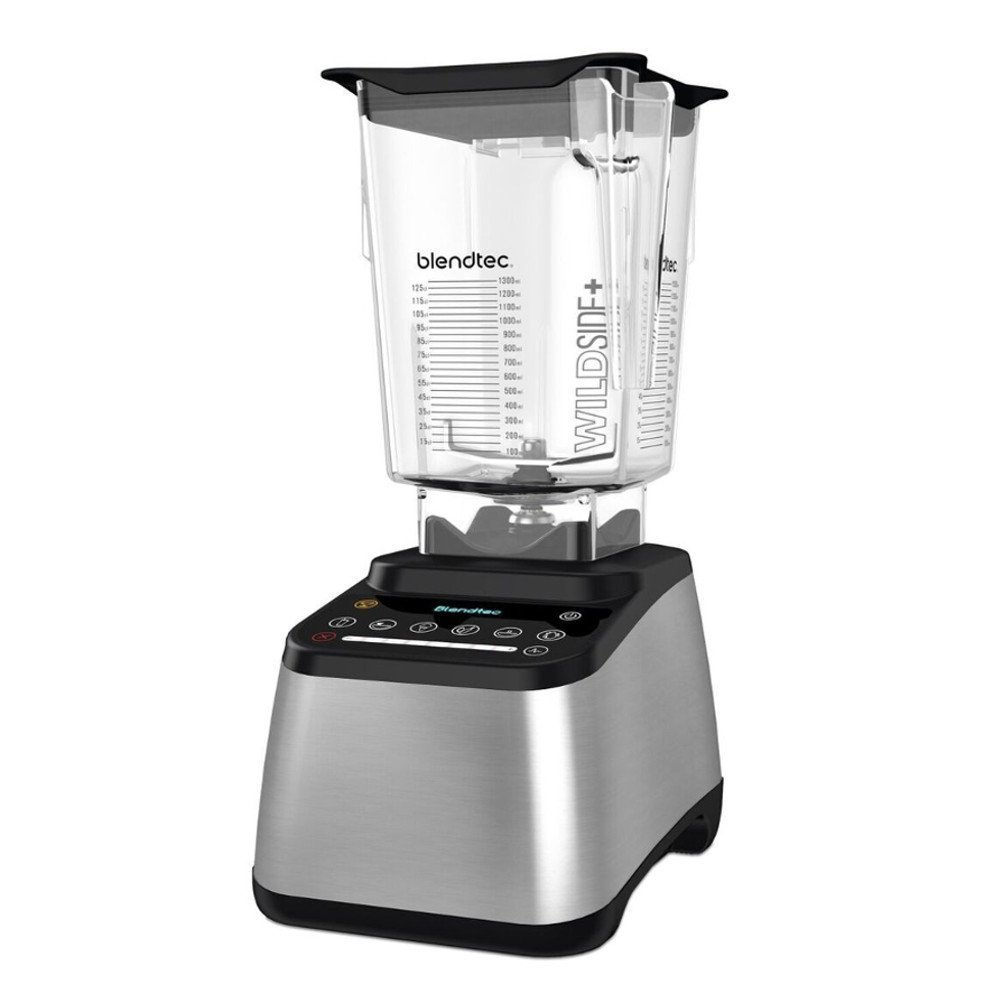Blendtec Designer 725 Blender - WildSide+ Jar (90 oz) - Professional-Grade Power - Self-Cleaning 6 Pre-Programmed Cycles-100-Speeds-Sleek and Slim, Stainless Steel/Black
