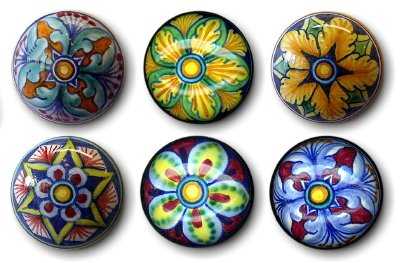 CORK STOPPERS: Set of SIX assorted Hand Painted Cork Stopper from Deruta [#TAP-SET] by DERUTA Collection (Image #1)