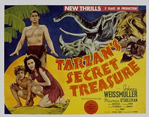 Odsan Gallery Tarzans Secret Treasure, Johnny Weissmuller, Maureen OSullivan, Johnny Sheffield, 1941 - Premium Movie Poster Reprint 28