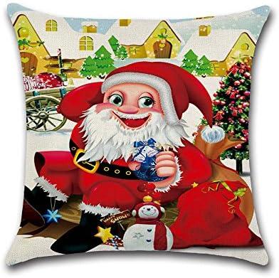 LILYYONG Feliz árbol de Navidad Papá Noel Elk para Funda de ...