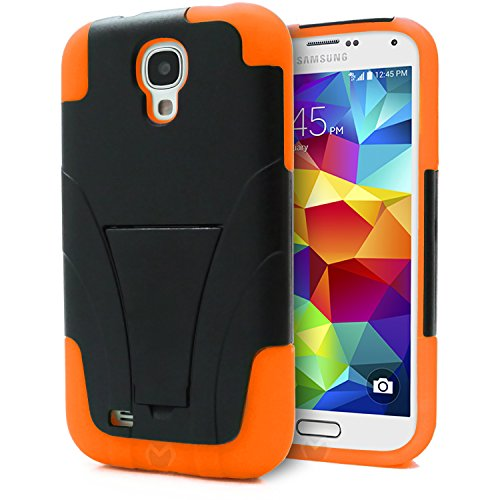 Shockproof Hybrid TPU Case for Samsung Galaxy S4 (Black) - 9