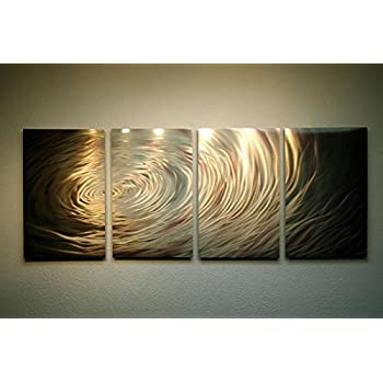 Amazon.com: Metal Wall Art, Modern Home Decor, Abstract Wall ...