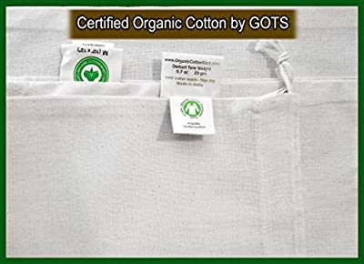 Organic Cotton Reusable Muslin Produce Bags