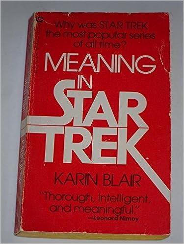 Meaning In Star Trek Amazon Co Uk Karin Blair 9780446920957 Books