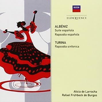 Amazon.com: Albeniz & Turina: Rhapsodies by ALICIA / DE ...