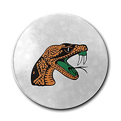 JFD Florida A&M Rattlers Lady Rattlers Logo Bar Drink Ceramic Coaster Furniture