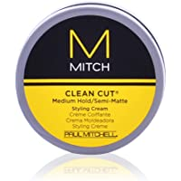 Mitch Clean Cut Medium Hold/Semi-Matte Styling Cream by Paul Mitchell for Men - 3 oz Cream