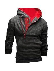 Changeshopping Men Long Sleeve Hoodie Sweatshirt Tops Jacket Coat Outwear