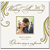 Personalized Mr & Mrs 1st Wedding Anniversary Gifts Photo Album Our Love Story Is My Favorite Holds 200 4x6 Photos Wedding Gift Ideas Made By LifeSong Milestones