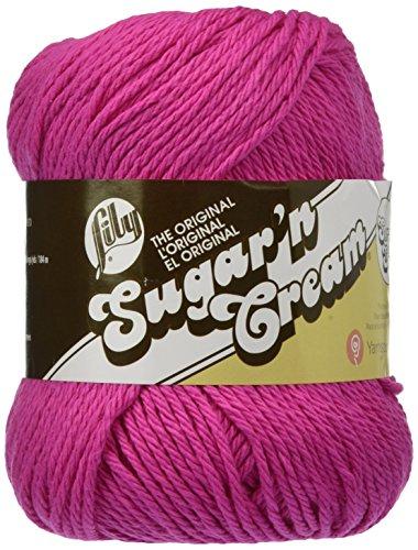 UPC 057355370524, Lily Sugar 'N Cream Super Size Yarn, 4 Ounce, Hot Pink, Single Ball
