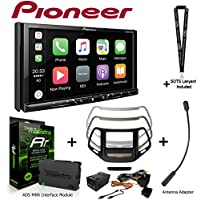 Pioneer AVH-2330NEX 7 DVD Receiver iDatalink KIT-CHK1 Dashkit for Jeep cherokee, BAA23 Antenna Adapter, and ADS-MRR Interface Module and a SOTS Lanyard