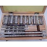 FidgetFidget Keyway Broach Bushing Shim Set 22pcs Metric System 12-30 HSS Keyway Tool for CNC