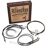 Burly Brand Black 14″, Ape Hanger Cable/Brake Kit B30-1009