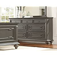 Contemporary Grey Hand Rub-Through Distressed Bedroom Furniture - Marceline (Dresser)
