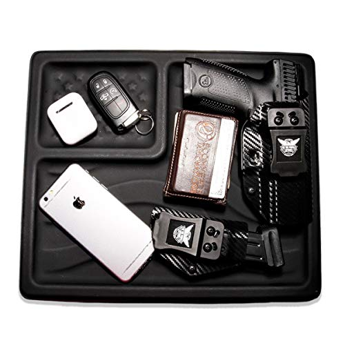 We The People Holsters - American Flag EDC Kydex Dump Tray - Valet Tray for Men - EDC Organizer and Catch-All for Everyday Carry, Keys, Change, Phone (Black) by We The People Holsters (Image #1)