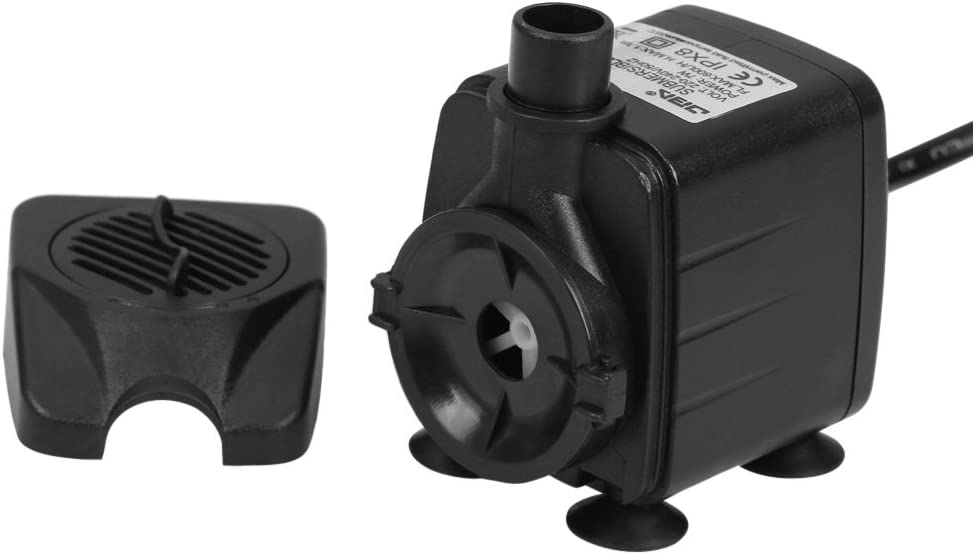 Fountains Spout and Hydroponic Systems. 8.5W 1000L//H Submersible Fish Tank Powerhead Water Pump for Fresh//Salt Water Aquarium
