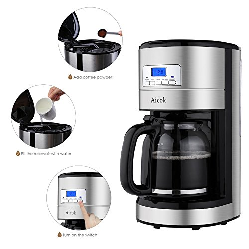 Aicok Coffee Maker 12 Cup Best Coffee Maker With Coffee
