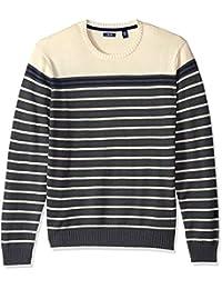 Men's Newport Fine 7 Gauge Stripe Crew Sweater
