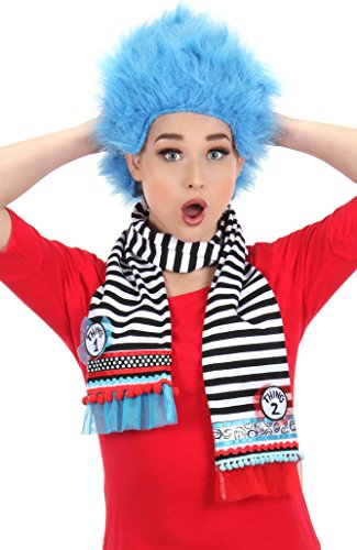elope Dr Seuss Thing 1&2 Striped Scarf]()