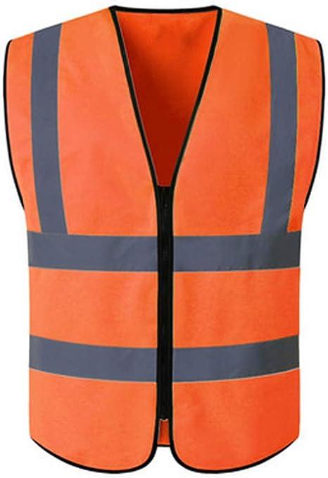Hycoprot Warnweste Warnwesten Sicherheitsweste Hochsichtbare Reflektierende Weste Executive Manager Jacke Workwear Zip 2 Band Brace Security Orange Xl Auto
