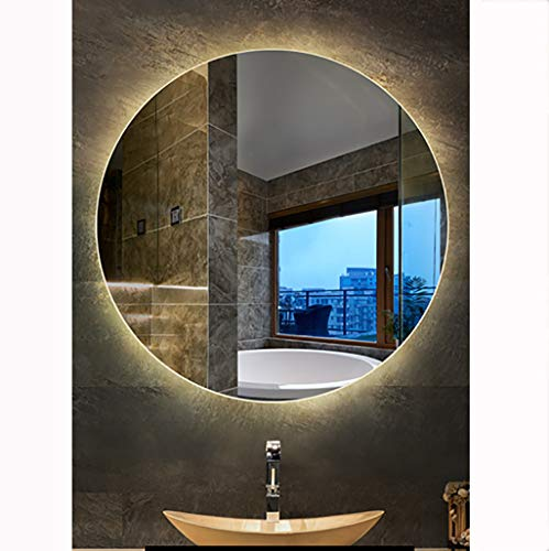 Round Illuminated Smart Led Bathroom Wall-Mounted Mirror Light Touch Sensor Anti Fog - Sensor Led Bathroom Mirrors Illuminated Demister