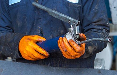 SupplyMaster - SMDTON8M - Diamond Texture Nitrile Gloves - Disposable, Powder Free, Industrial, 8 mil, Medium, Orange (Case of 200) by SupplyMaster (Image #6)