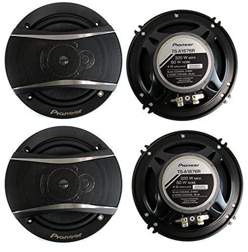 4) Pioneer 6.5 Inch 3-Way 640 Watt Car Coaxial Stereo Speakers Four | (4 Way Component Car Speakers)