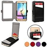 Cooper Cases(TM) Slider Flip Universal 5' Smartphone Wallet Case in Black