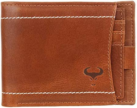 RFID Blocking Bi-Fold Wallet /& Removable ID Card Passcase for Men w// A Gift Box
