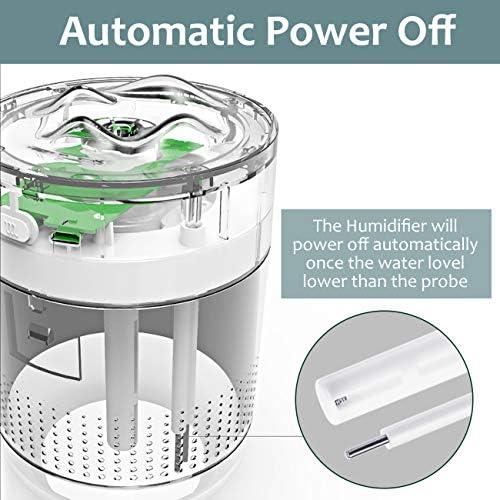 EXTSUD Mini Humidificateur d'air Maison 500ML Ultrasonique Silencieux Humidificateur Bébé Utilisation Continue jusqu'à 10-15, Arrêt Automatique sans Eau pour Chambre Bureau Yoga Voiture (Gris)